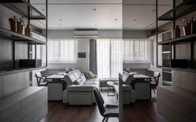 桃園裝潢設計開箱-現代40坪輕豪宅,一個由木作和鐵件打造完美的工業風