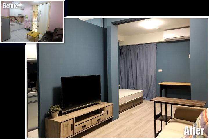 台南裝潢推薦-小宅設計魂,在理想和預算間找到平衡的美好案例-客廳裝潢