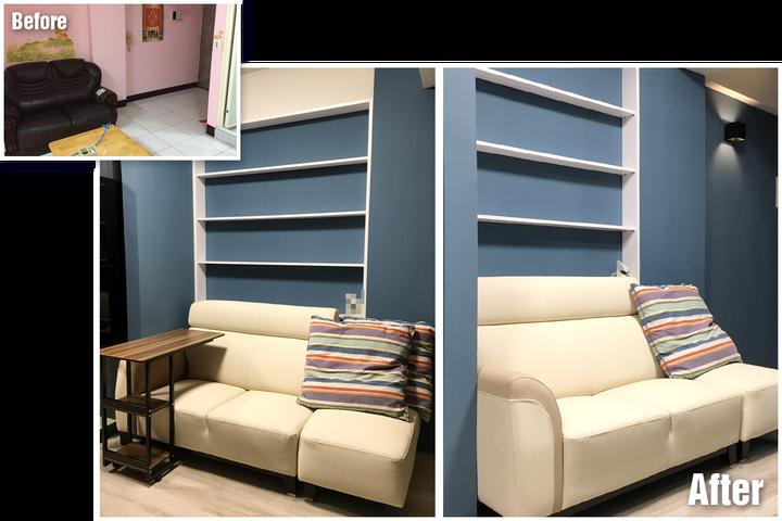 台南裝潢推薦-小宅設計魂,在理想和預算間找到平衡的美好案例-沙發