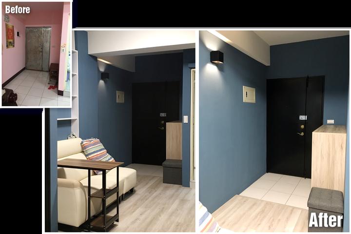 台南裝潢推薦-小宅設計魂,在理想和預算間找到平衡的美好案例-玄關