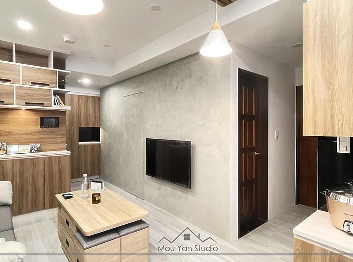 客廳裝潢撇步,最喜歡的樂土電視牆。PULO裝潢案例,板橋作品。