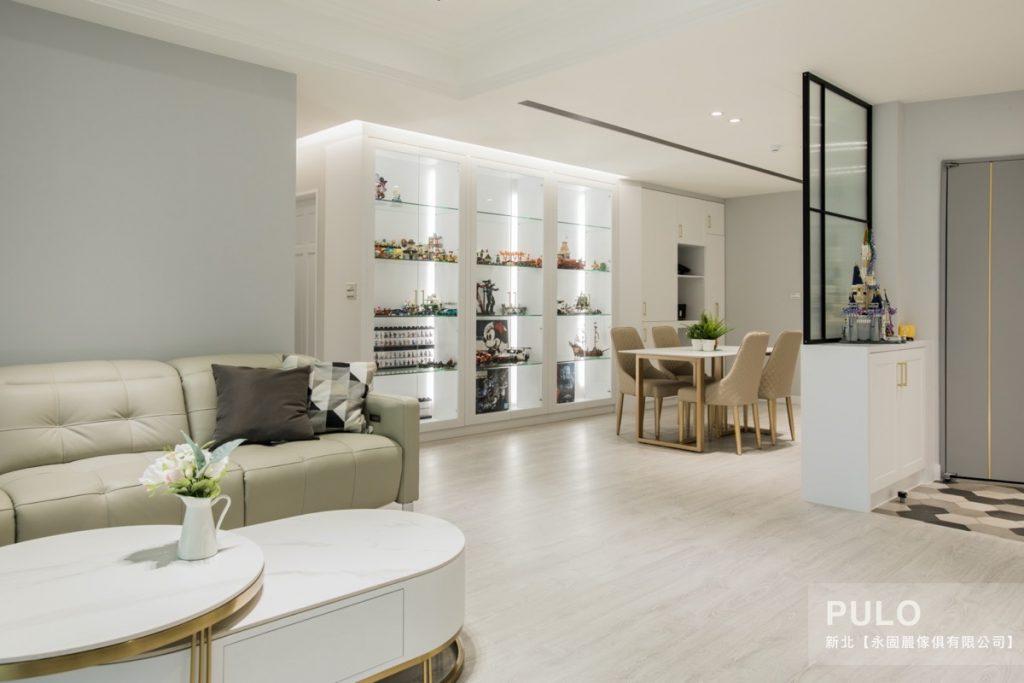 台北裝潢,輕美式純白透明感裝潢
